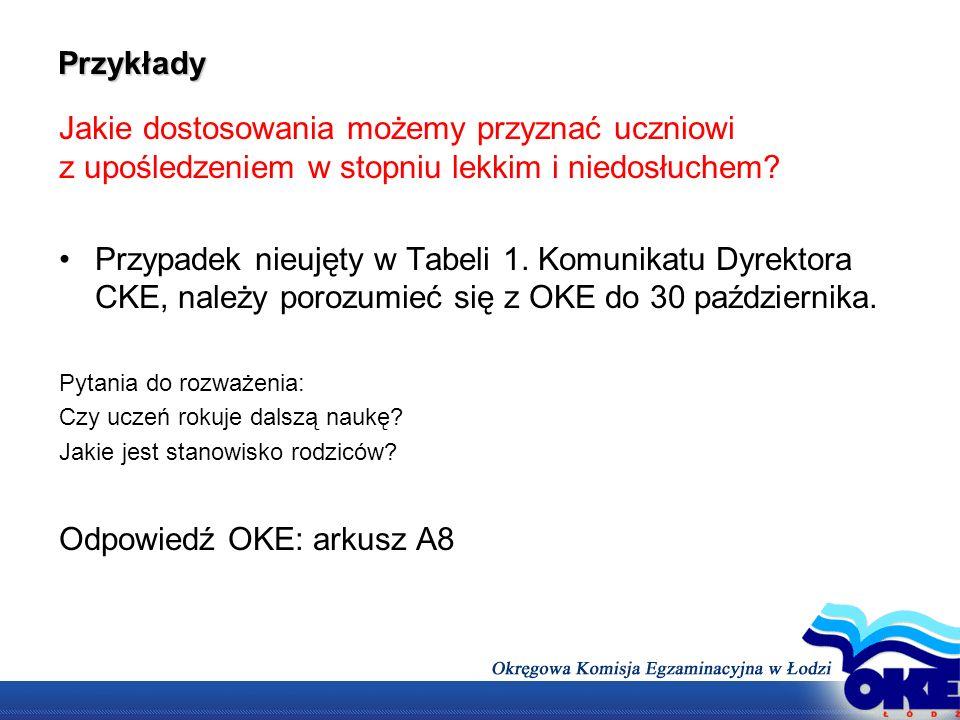 Odpowiedź OKE: arkusz A8