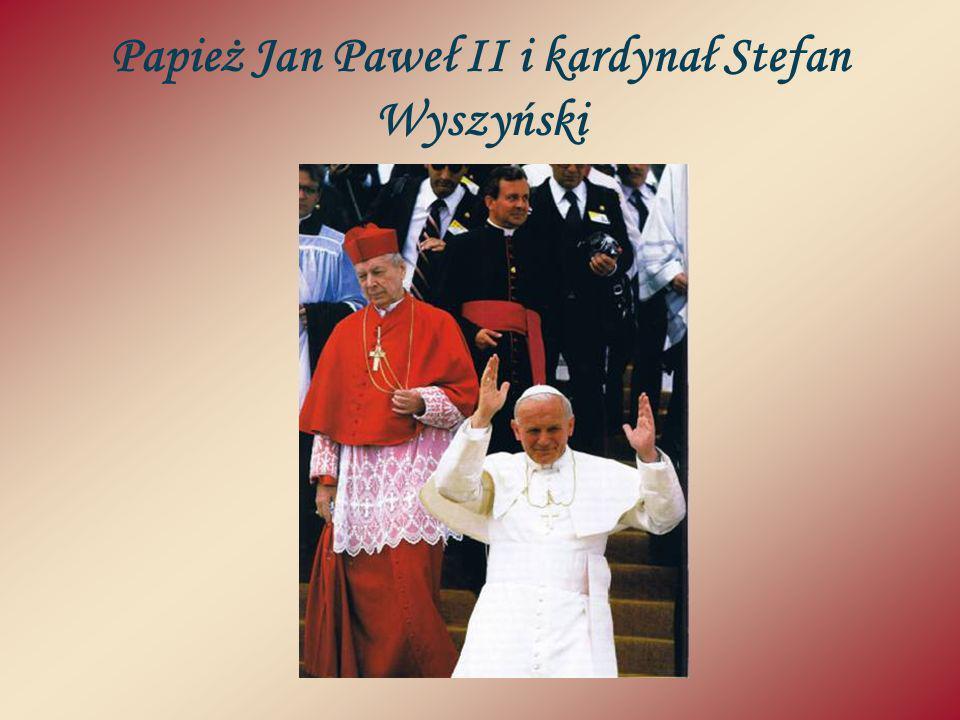 Papież Jan Paweł II i kardynał Stefan Wyszyński