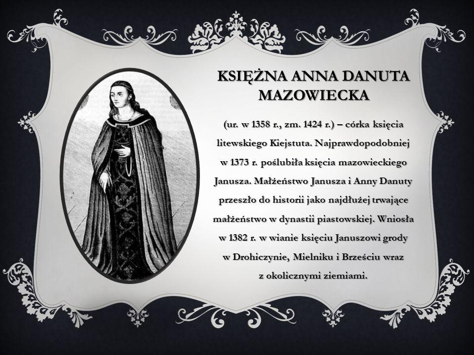 Księżna Anna Danuta mazowiecka