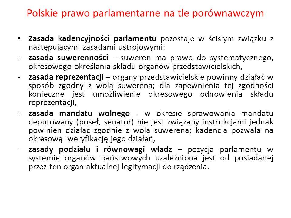 Polskie prawo parlamentarne na tle porównawczym