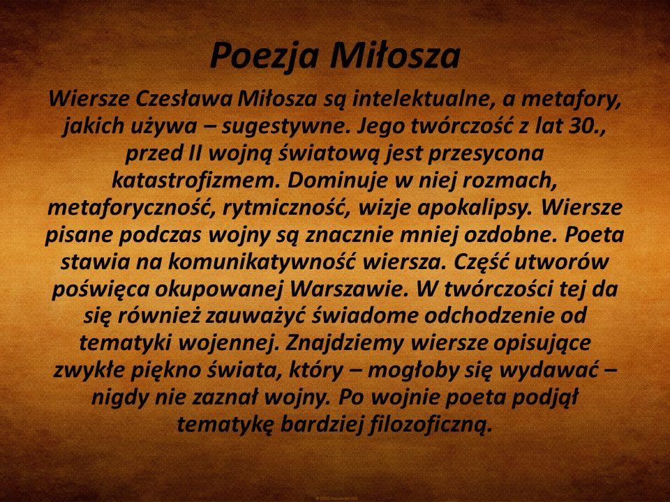 Poezja Miłosza