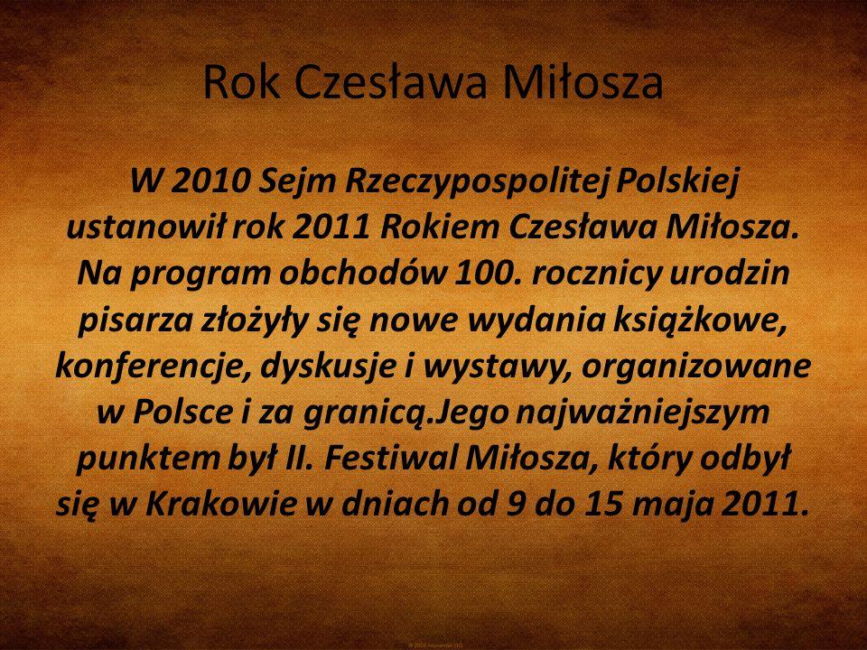 Rok Czesława Miłosza