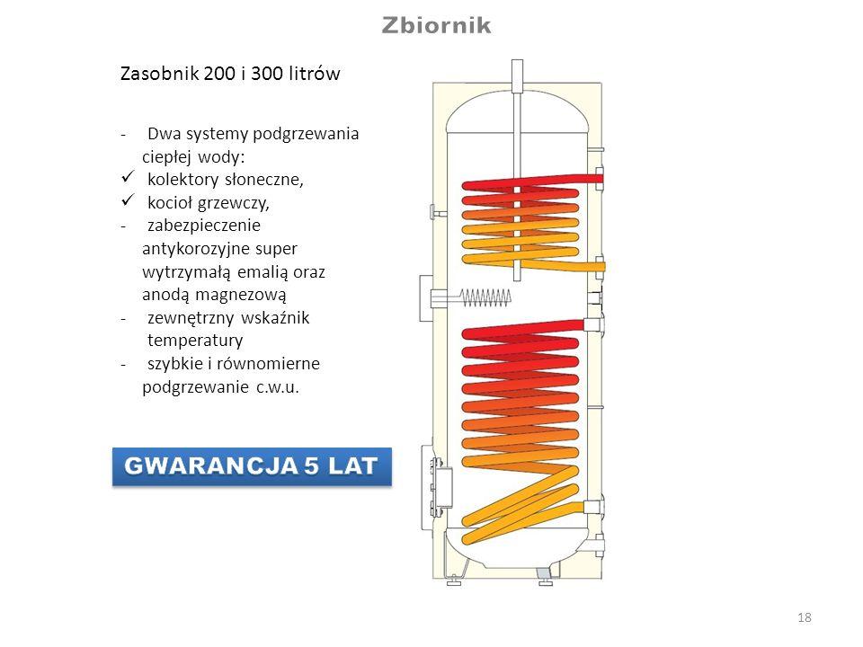 Zbiornik GWARANCJA 5 LAT Zasobnik 200 i 300 litrów