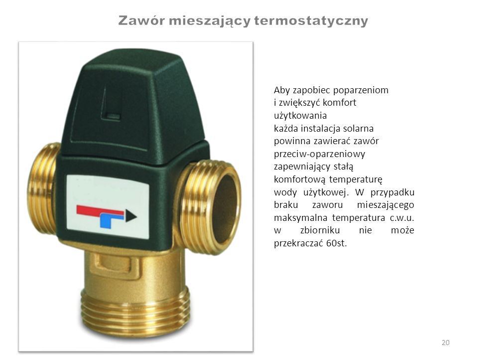 Zawór mieszający termostatyczny