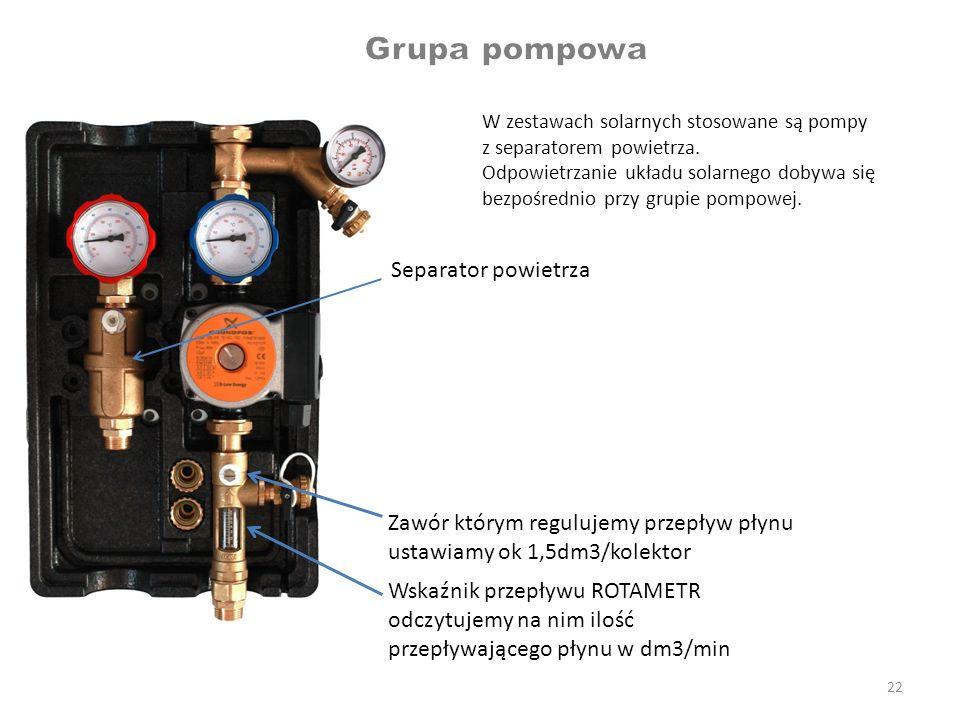 Grupa pompowa Separator powietrza