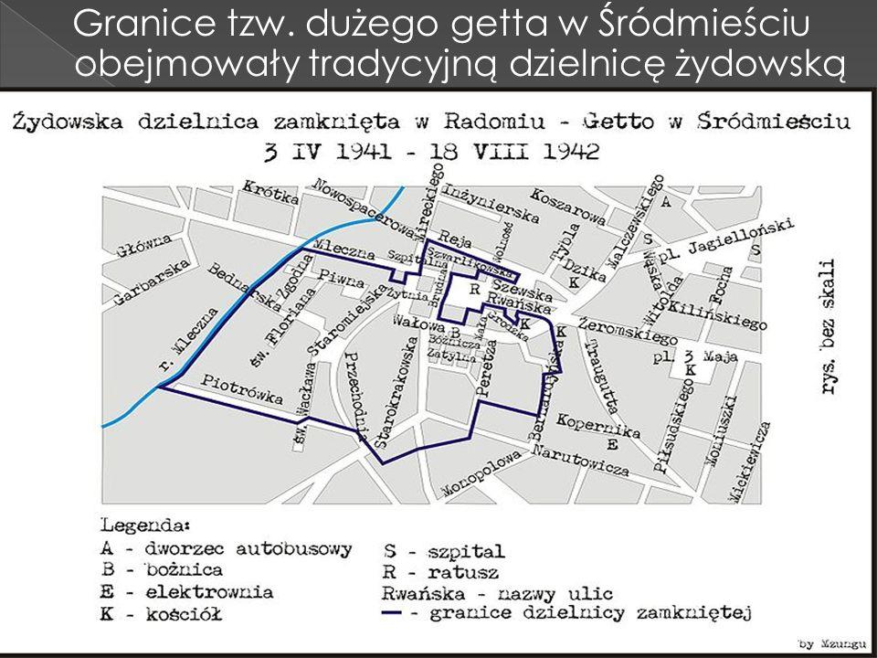 Granice tzw. dużego getta w Śródmieściu obejmowały tradycyjną dzielnicę żydowską