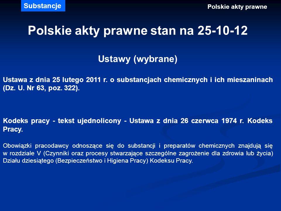 Polskie akty prawne stan na 25-10-12