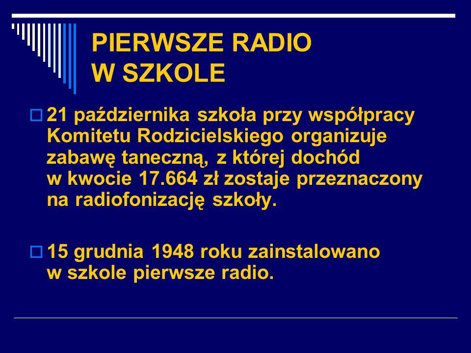 PIERWSZE RADIO W SZKOLE
