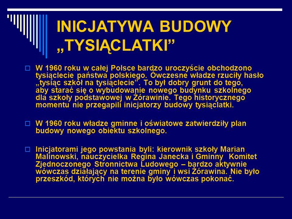"""INICJATYWA BUDOWY """"TYSIĄCLATKI"""