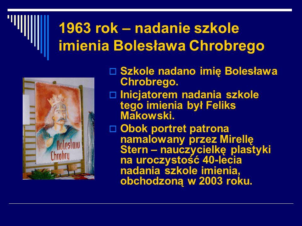 1963 rok – nadanie szkole imienia Bolesława Chrobrego