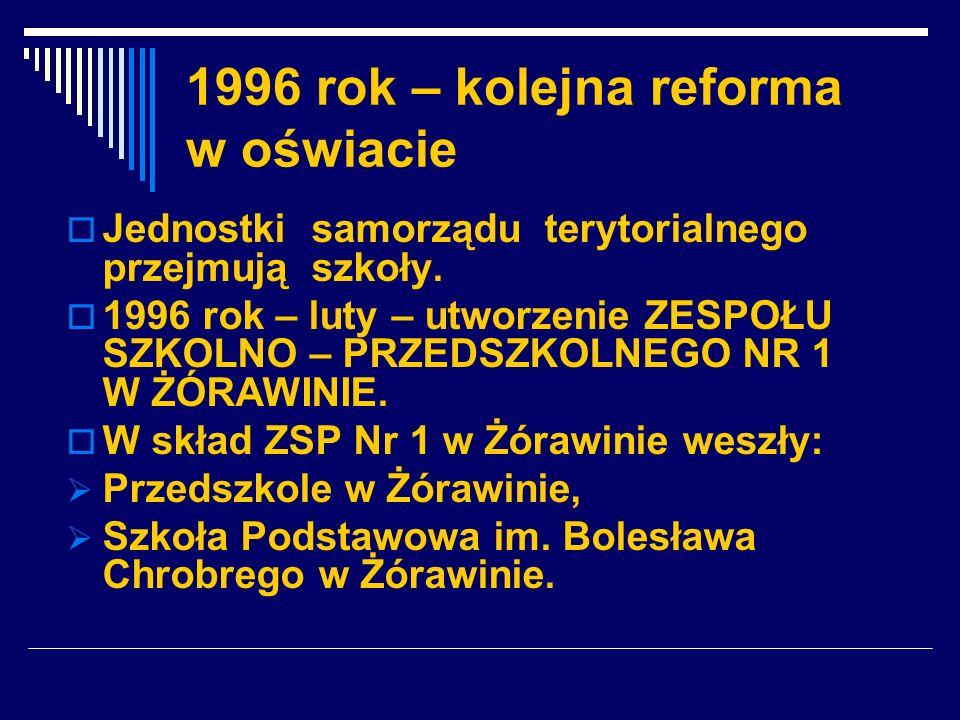 1996 rok – kolejna reforma w oświacie
