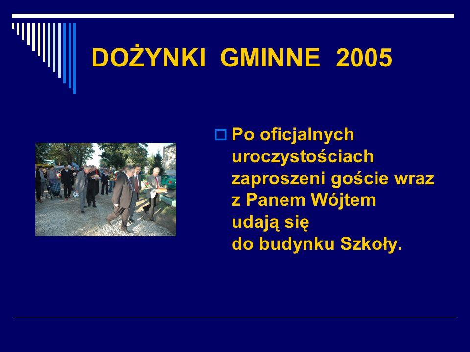 DOŻYNKI GMINNE 2005