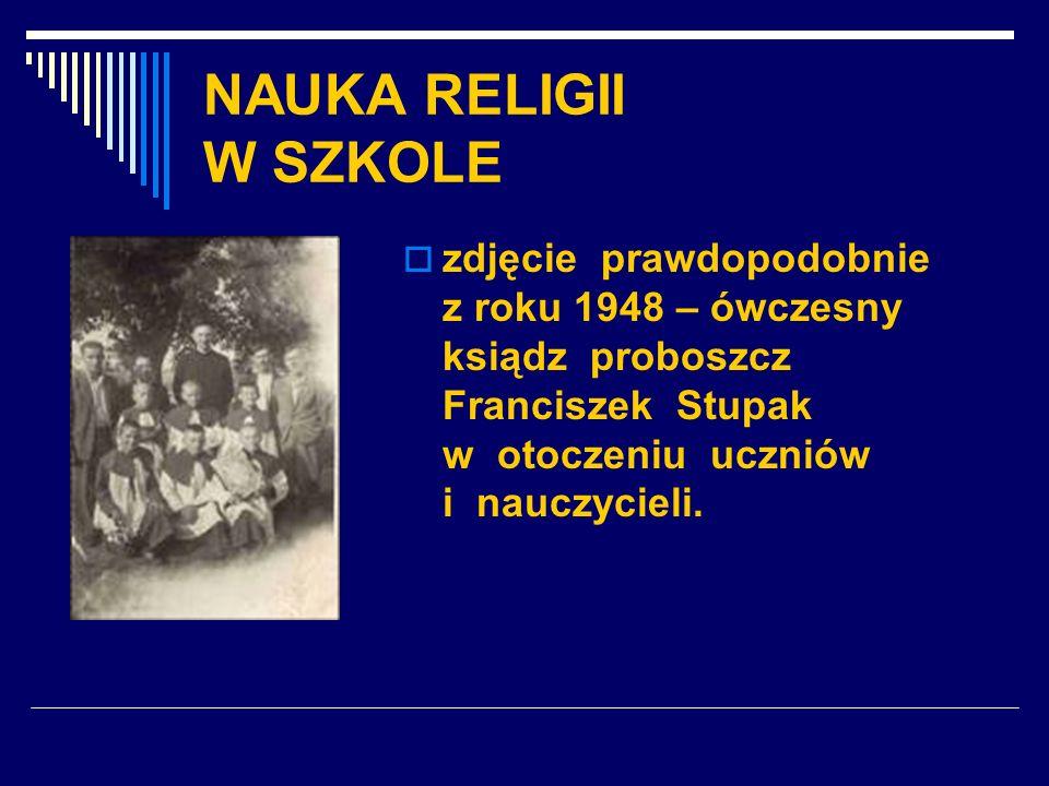 NAUKA RELIGII W SZKOLE