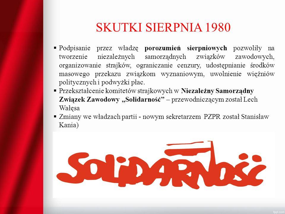 SKUTKI SIERPNIA 1980