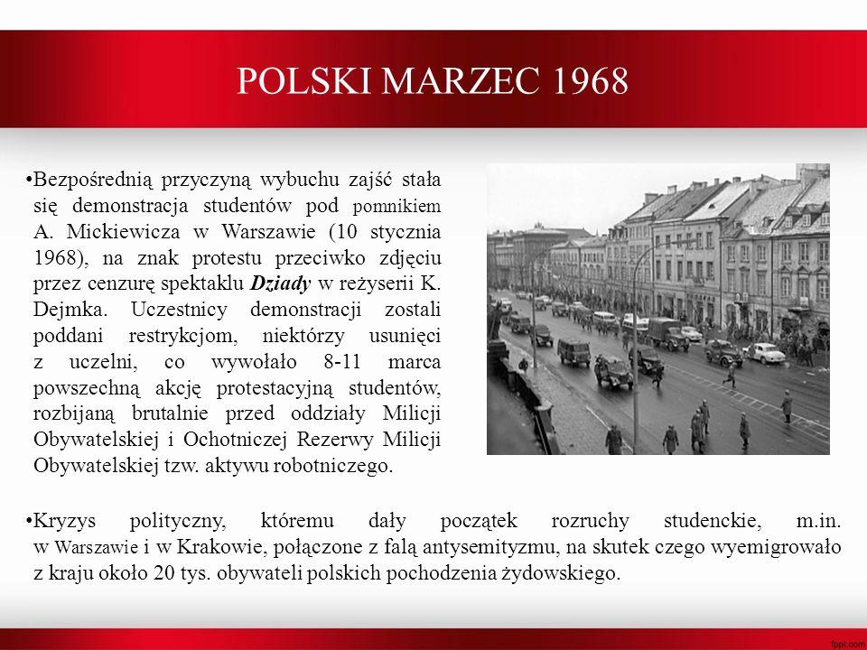 POLSKI MARZEC 1968