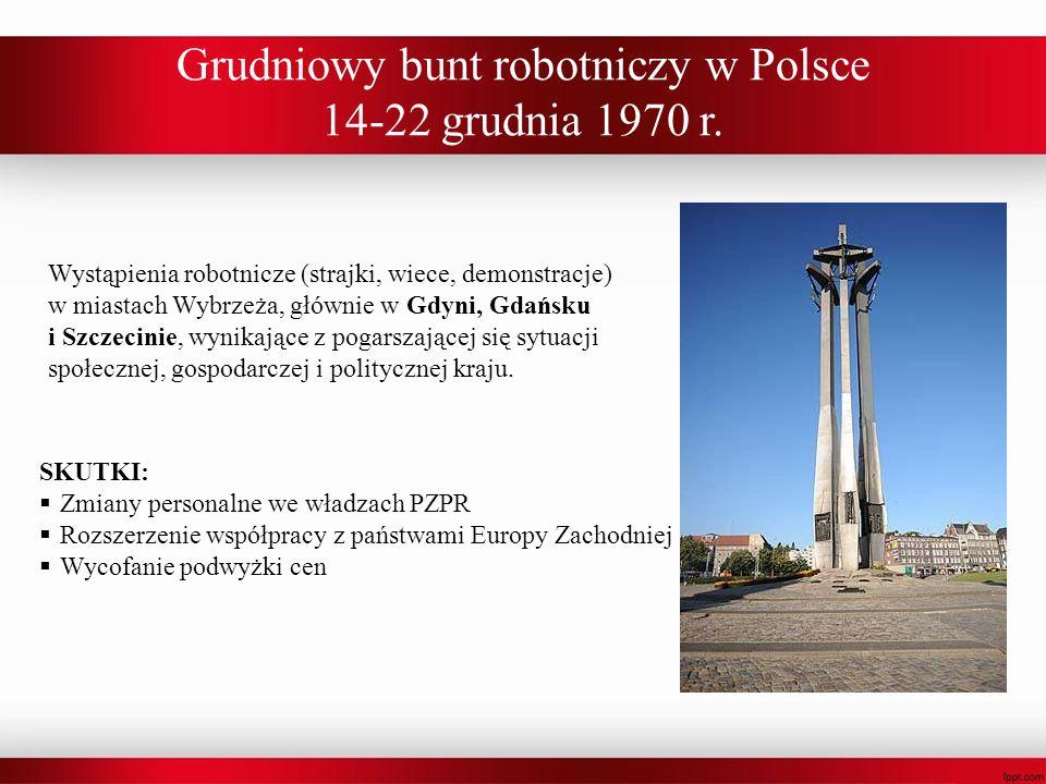 Grudniowy bunt robotniczy w Polsce 14-22 grudnia 1970 r.