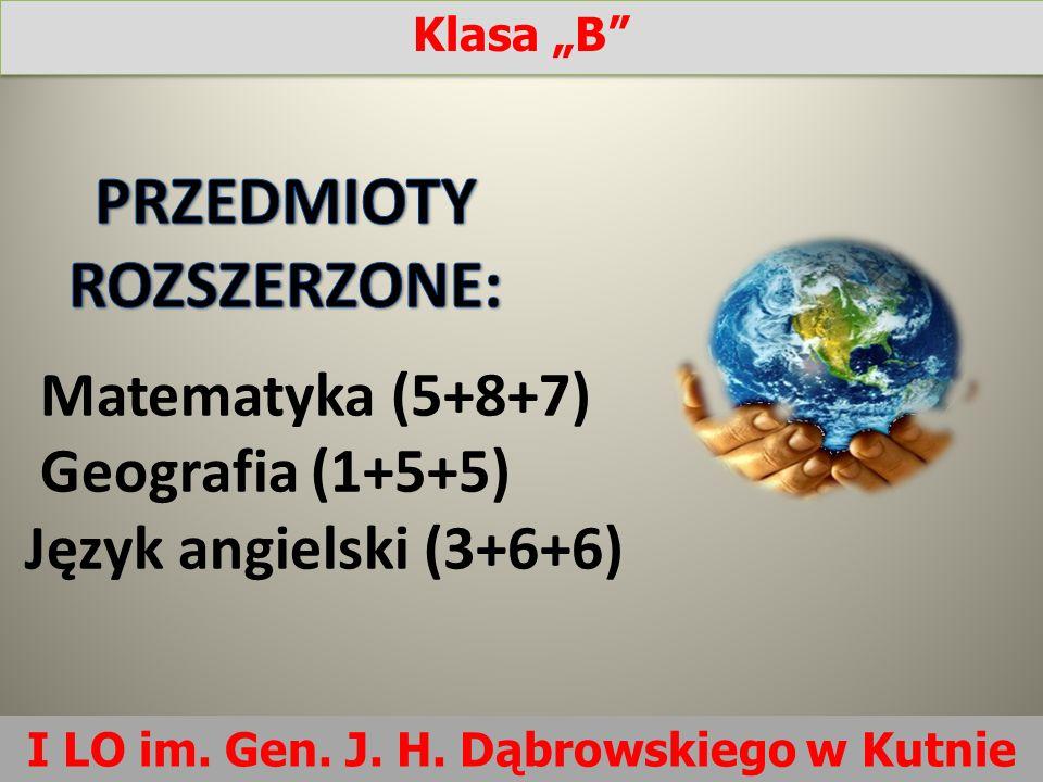 Matematyka (5+8+7) Geografia (1+5+5) Język angielski (3+6+6)