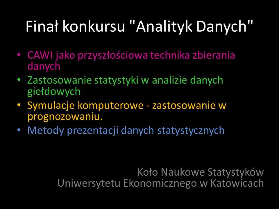 Finał konkursu Analityk Danych