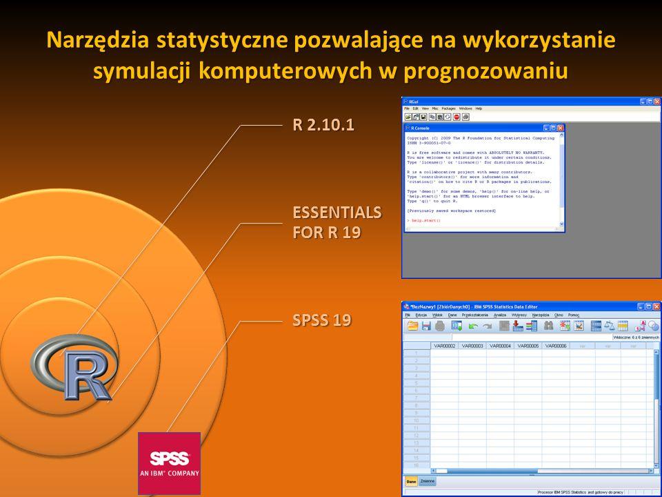 Narzędzia statystyczne pozwalające na wykorzystanie symulacji komputerowych w prognozowaniu