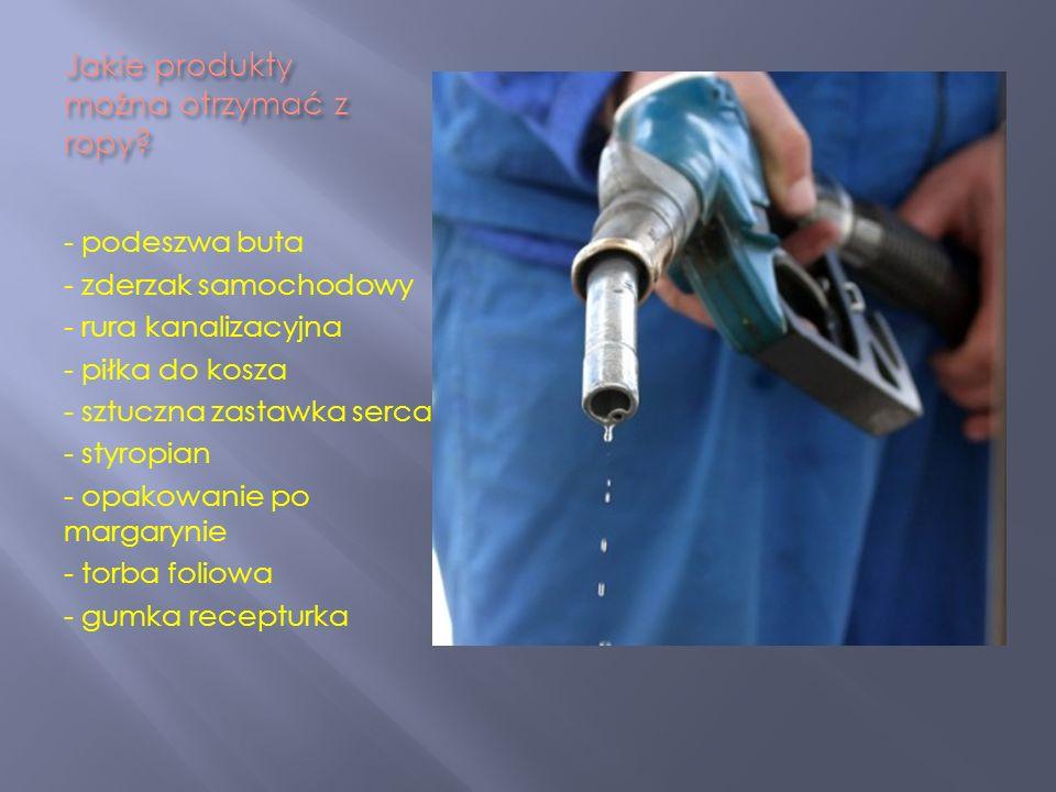 Jakie produkty można otrzymać z ropy