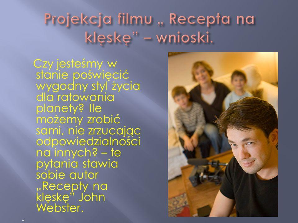 "Projekcja filmu "" Recepta na klęskę – wnioski."