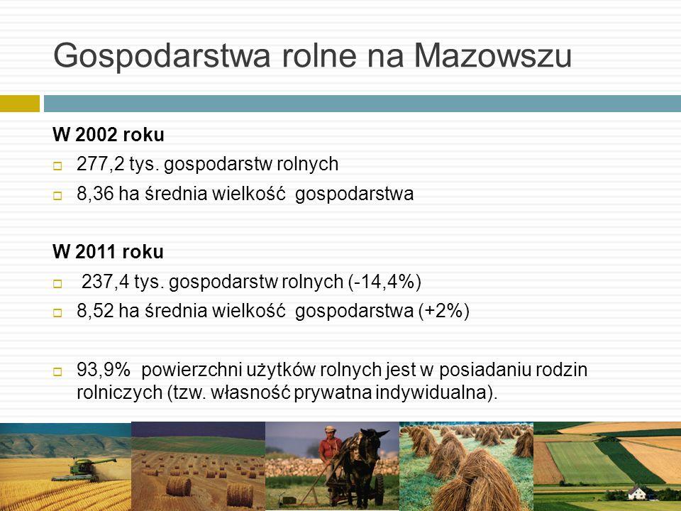 Gospodarstwa rolne na Mazowszu