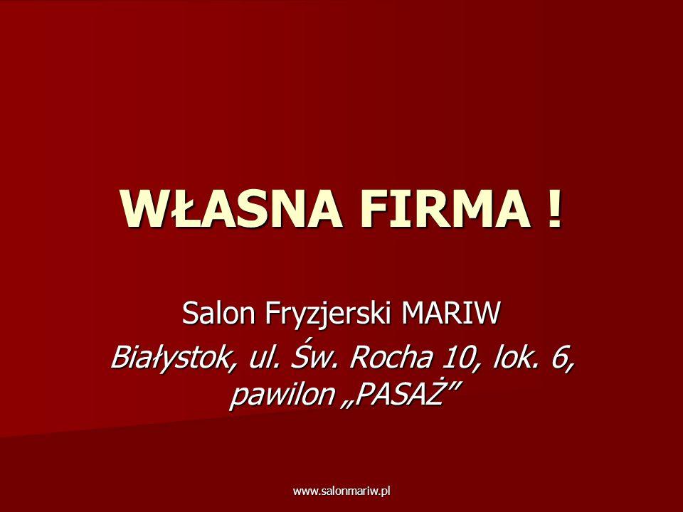 WŁASNA FIRMA ! Salon Fryzjerski MARIW