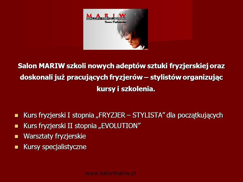 Salon MARIW szkoli nowych adeptów sztuki fryzjerskiej oraz