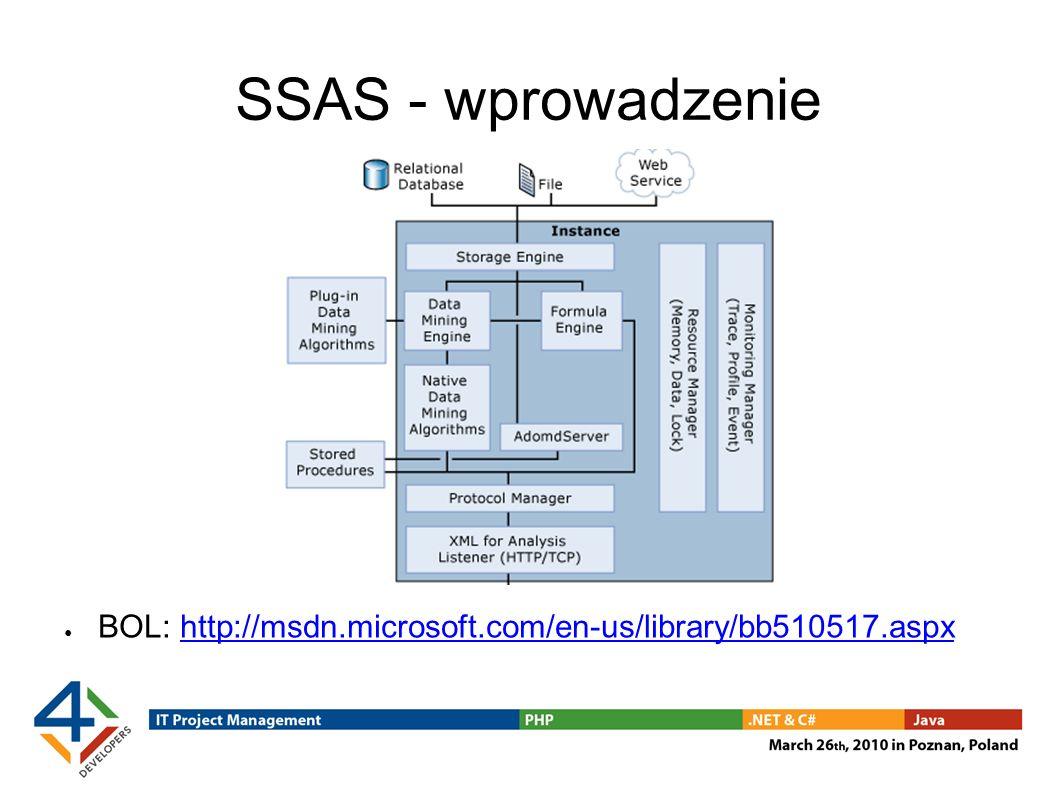 SSAS - wprowadzenie BOL: http://msdn.microsoft.com/en-us/library/bb510517.aspx