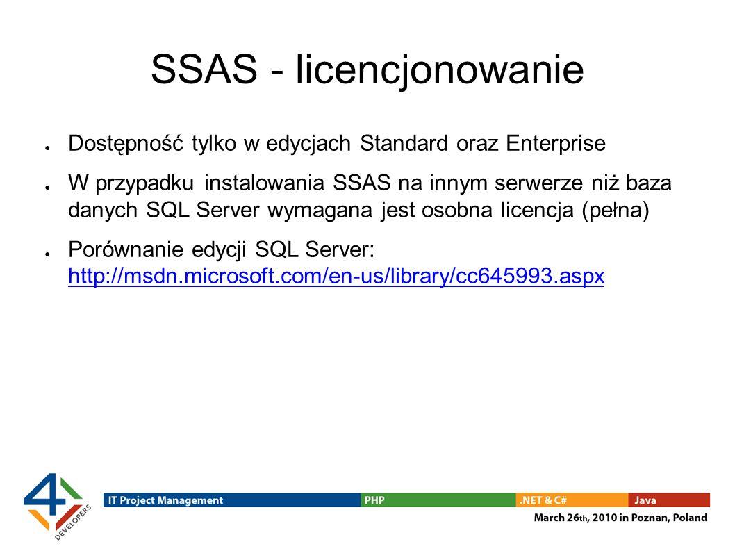SSAS - licencjonowanie
