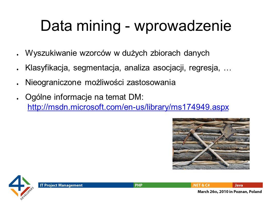 Data mining - wprowadzenie