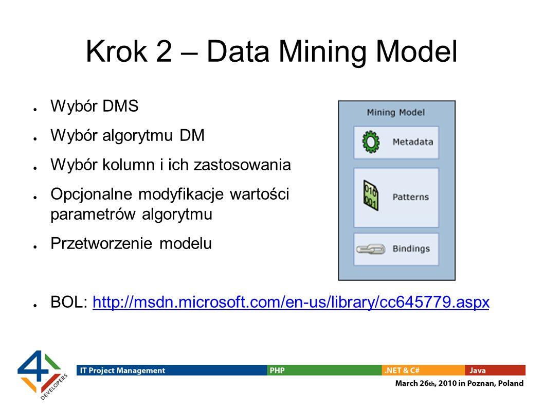 Krok 2 – Data Mining Model