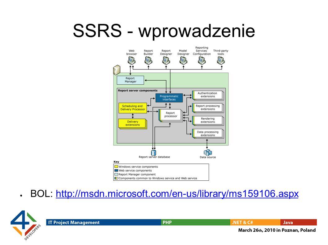SSRS - wprowadzenie BOL: http://msdn.microsoft.com/en-us/library/ms159106.aspx