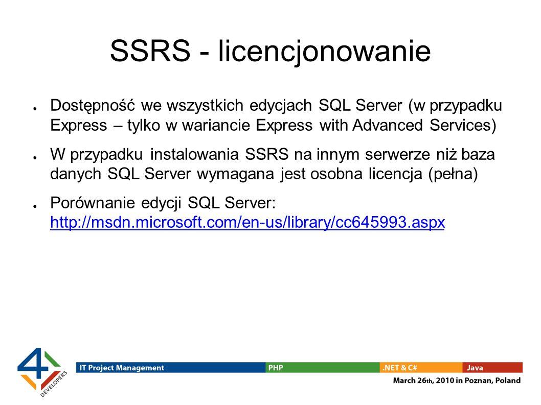 SSRS - licencjonowanie
