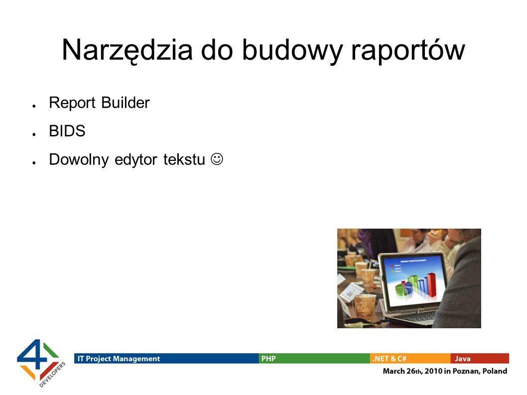 Narzędzia do budowy raportów