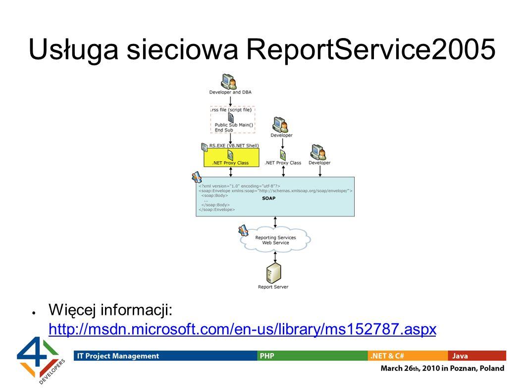 Usługa sieciowa ReportService2005