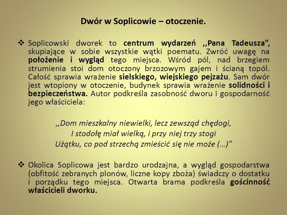 Dwór w Soplicowie – otoczenie.