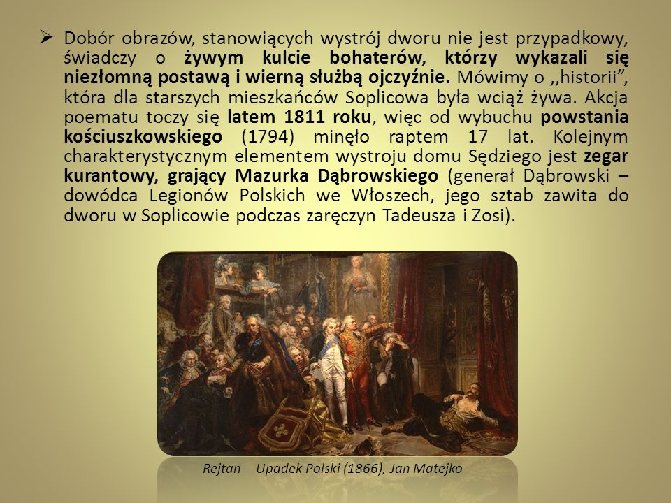 Rejtan – Upadek Polski (1866), Jan Matejko