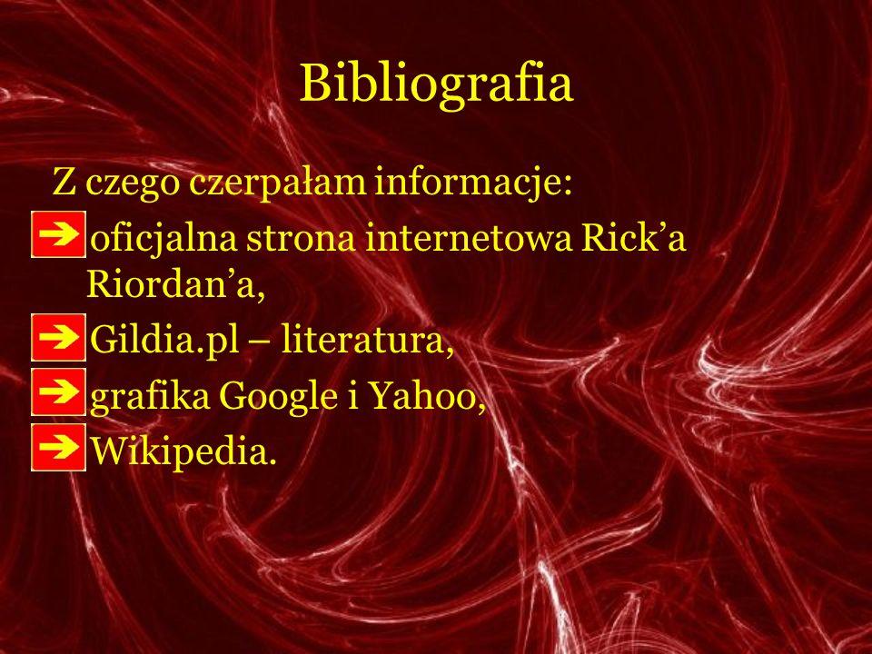 Bibliografia Z czego czerpałam informacje: