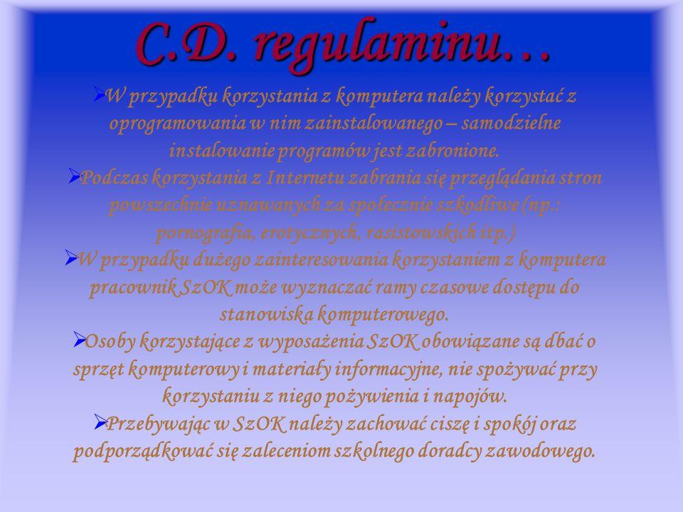 C.D. regulaminu…