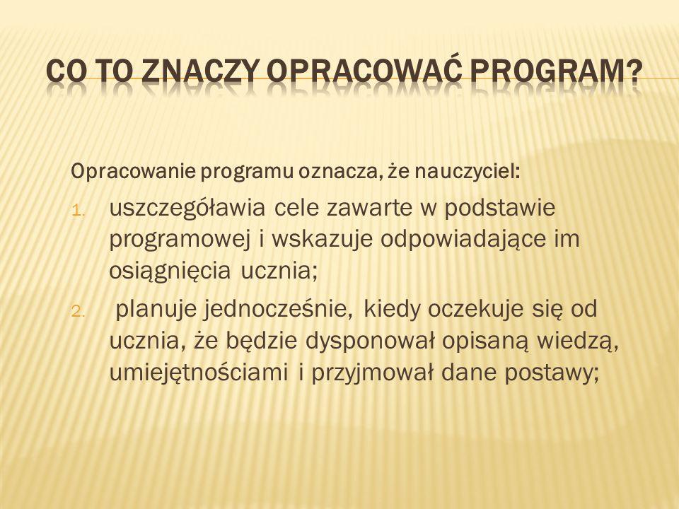 Co to znaczy opracować program