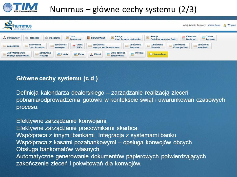 Nummus – główne cechy systemu (2/3)