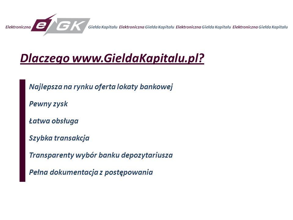 Dlaczego www.GieldaKapitalu.pl