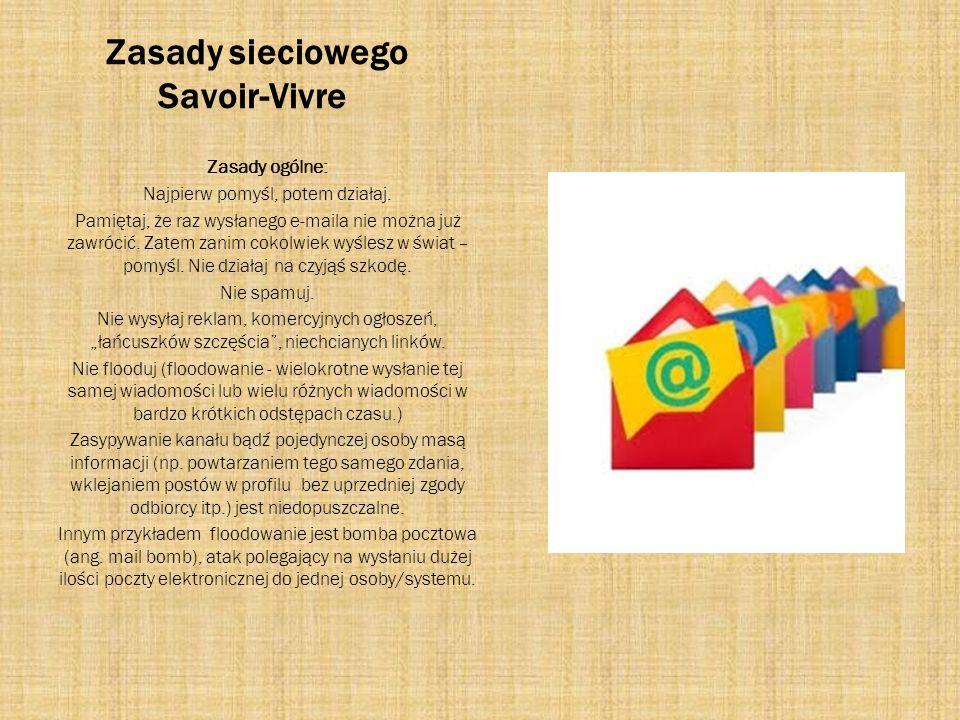 Zasady sieciowego Savoir-Vivre
