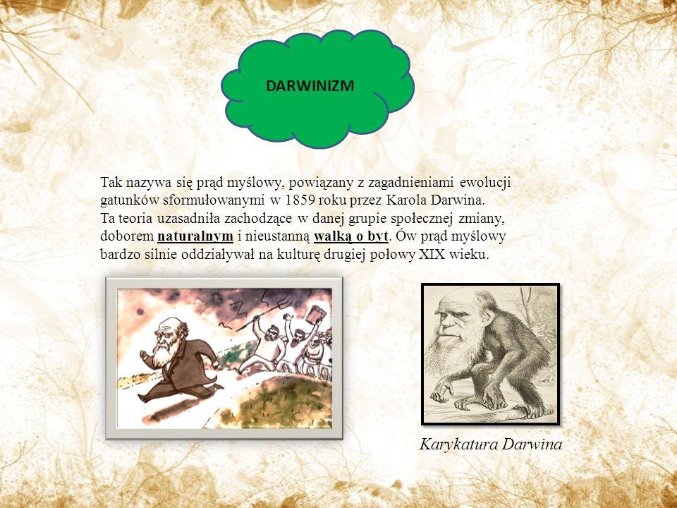 DARWINIZM Karykatura Darwina