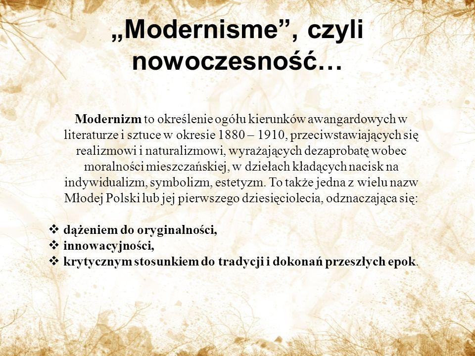 """""""Modernisme , czyli nowoczesność…"""