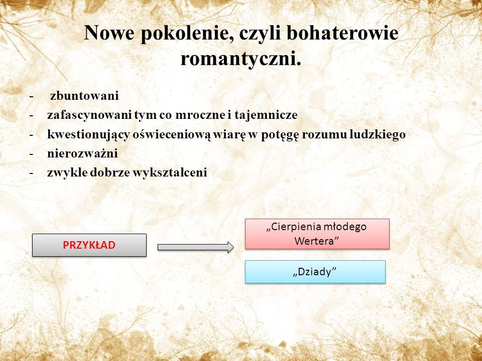 Nowe pokolenie, czyli bohaterowie romantyczni.