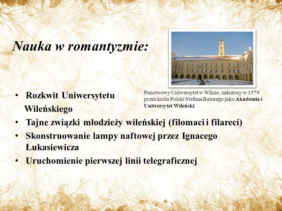 Nauka w romantyzmie: Rozkwit Uniwersytetu Wileńskiego