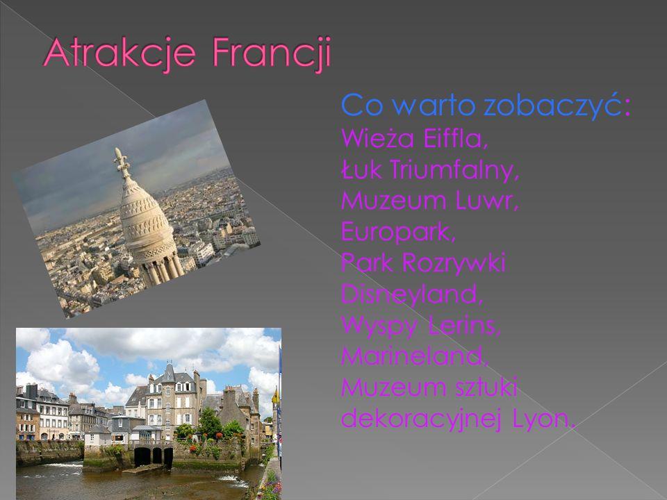 Atrakcje Francji Co warto zobaczyć: Wieża Eiffla,