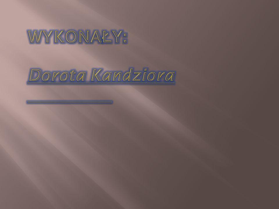 WYKONAŁY: Dorota Kandziora Agnieszka